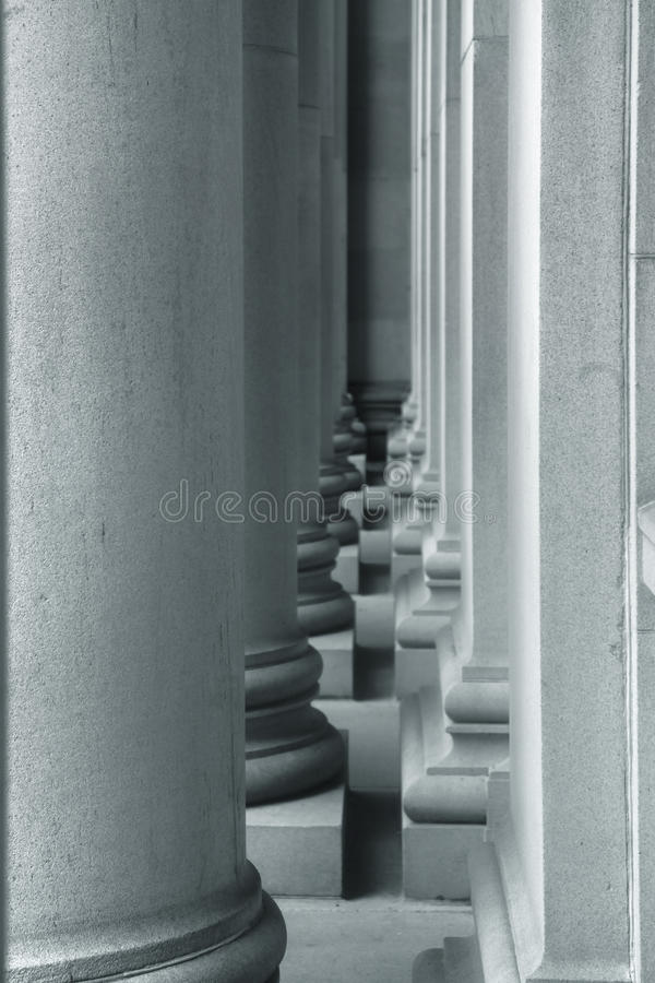 Tall pillars and wall stock photography