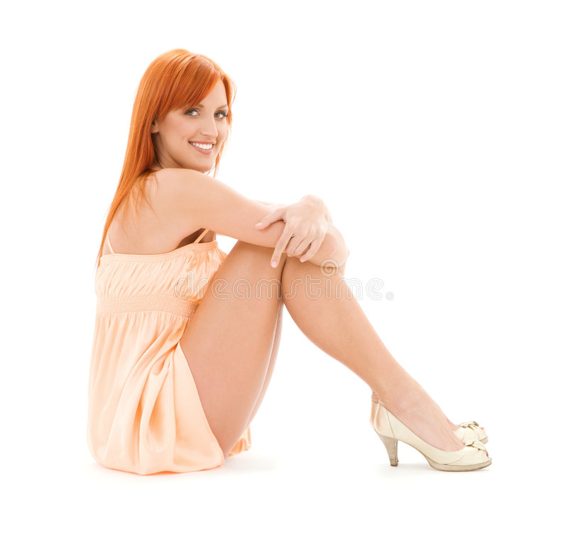 Download Tall redhead stock photo. Image of happy, lovely, heels - 8283440
