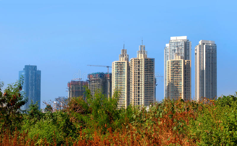 Tall residential buildings in Mumbai royalty free stock images