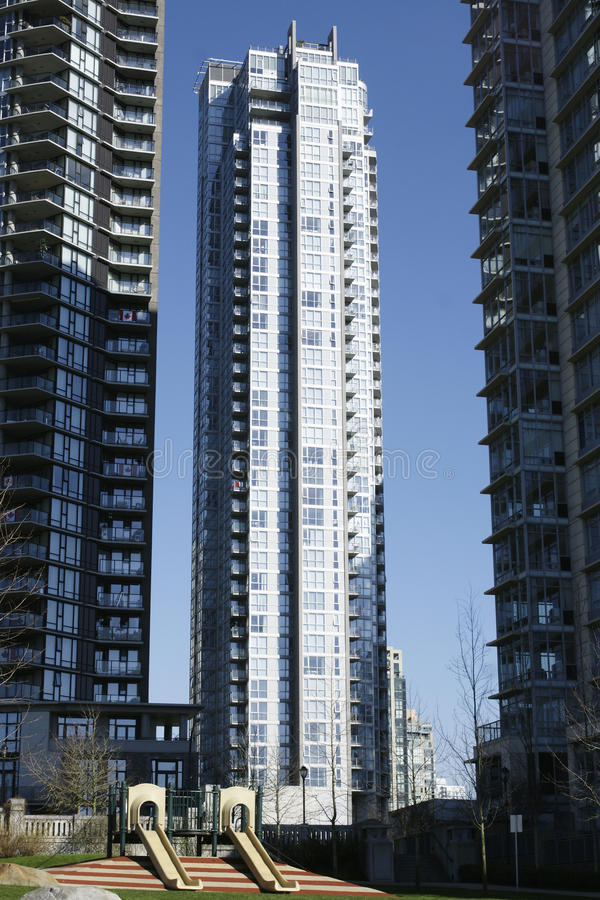 Tall Residential Tower Vancouver Royalty Free Stock Image