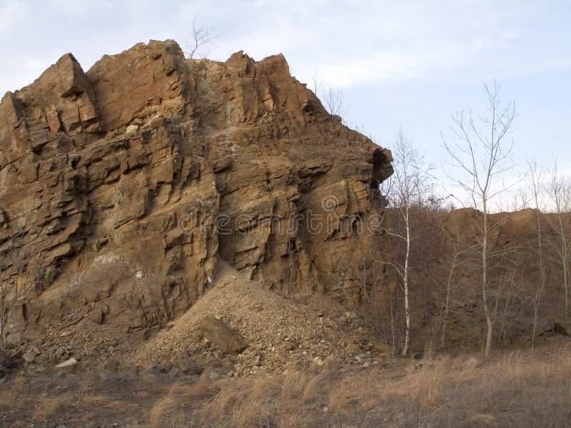 Tall Rock stock photo