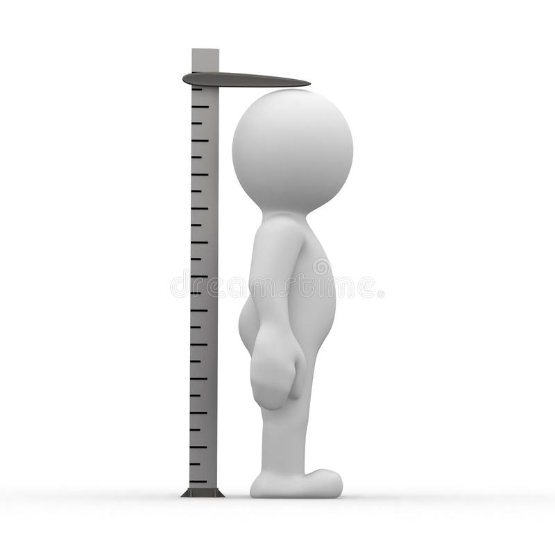 Tall ruler stock illustration