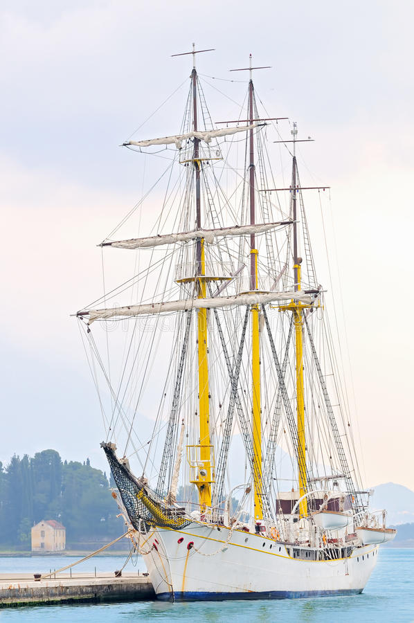Download Tall ship stock image. Image of yacht, docked, jadran - 19499303