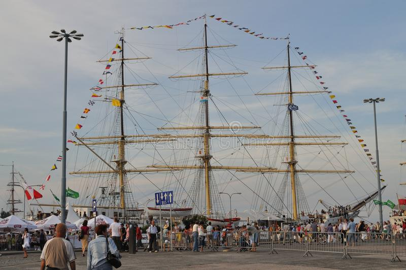 Download Tall Ship editorial stock image. Image of gdynia, leisure - 20040549