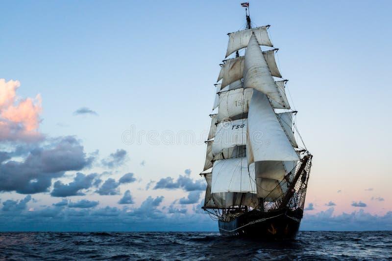 Tall Ship on the Atlantic ocean stock image