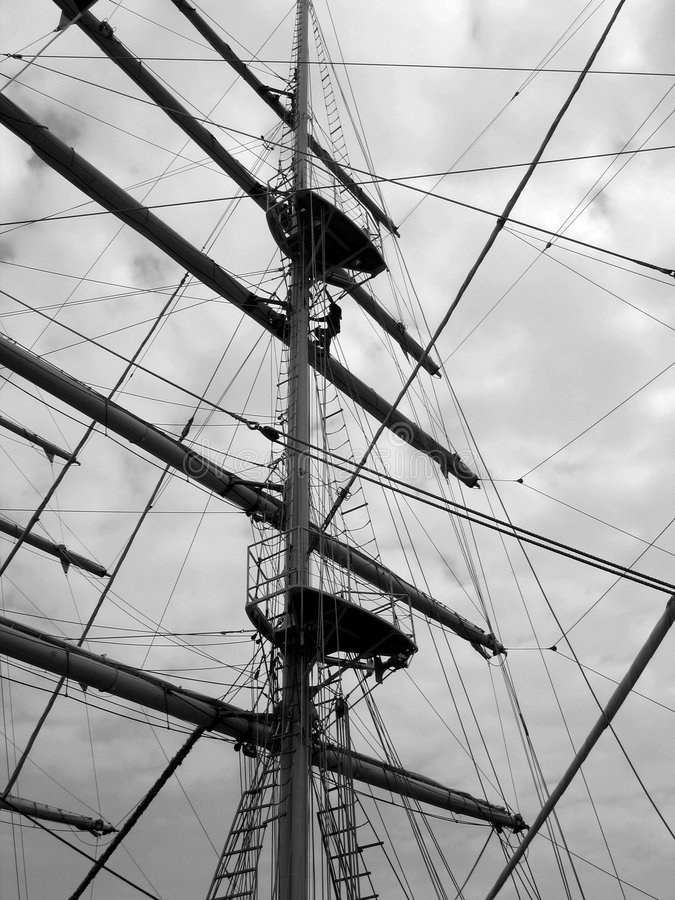 Free Tall Ship Mast And Rigging Royalty Free Stock Image - 304536