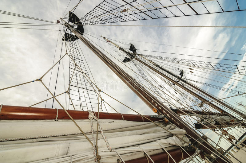 Download Tall ship mast and sail stock photo. Image of maritime - 41865730