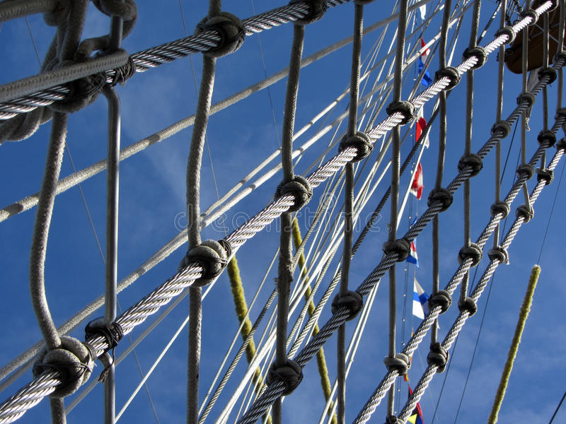 Tall Ship Rigging Rope Royalty Free Stock Photography