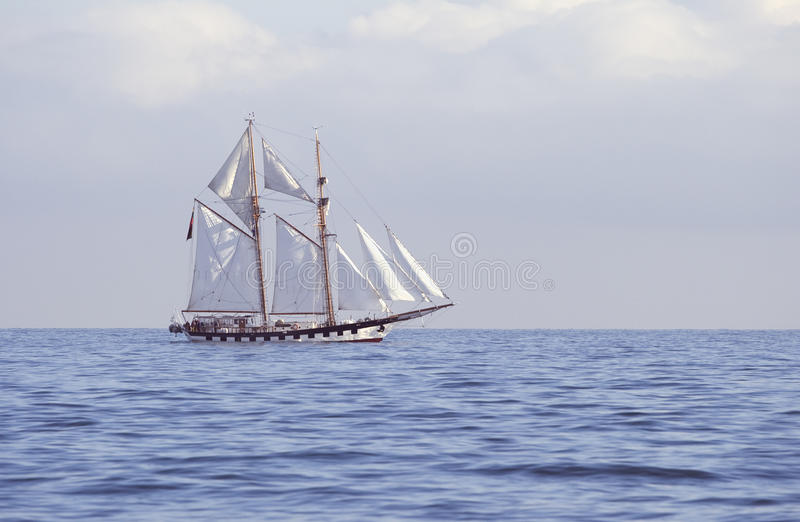 Tall ship in the sea