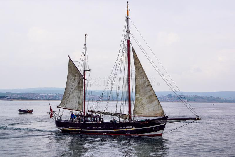 Tall ship in Weymouth royalty free stock photos