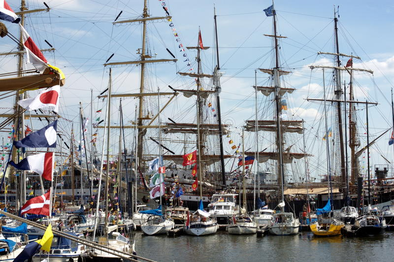 Tall ships Clipper stock images