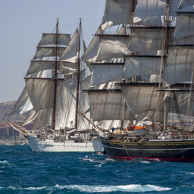 Tall Ships Full Sail royalty free stock photography