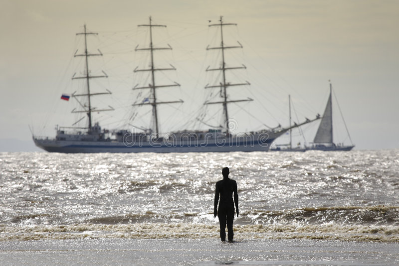 Tall Ships leaving Liverpool stock photography