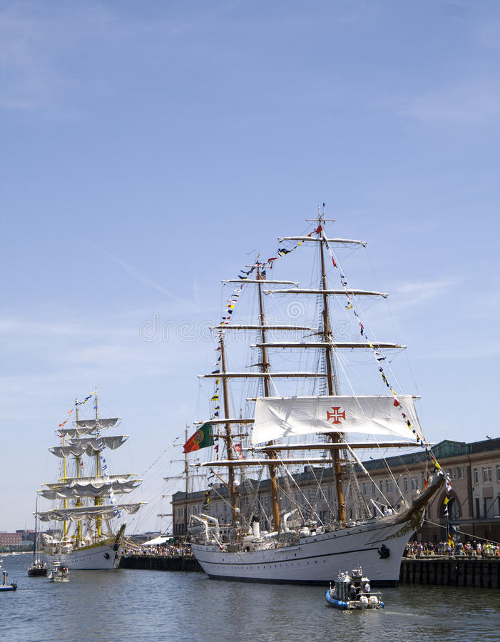 Download Tall Ships Mircea And Cisne Branco Editorial Stock Image - Image: 10119014
