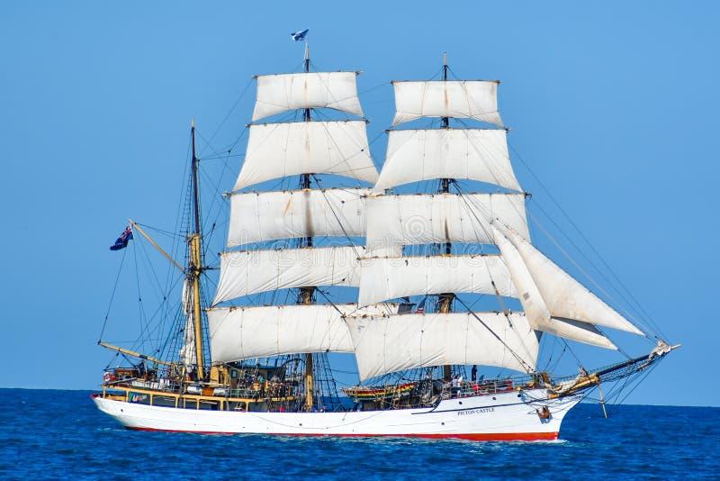 Tall Ships Parade On Lake Michigan in Kenosha, Wisconsin stock image