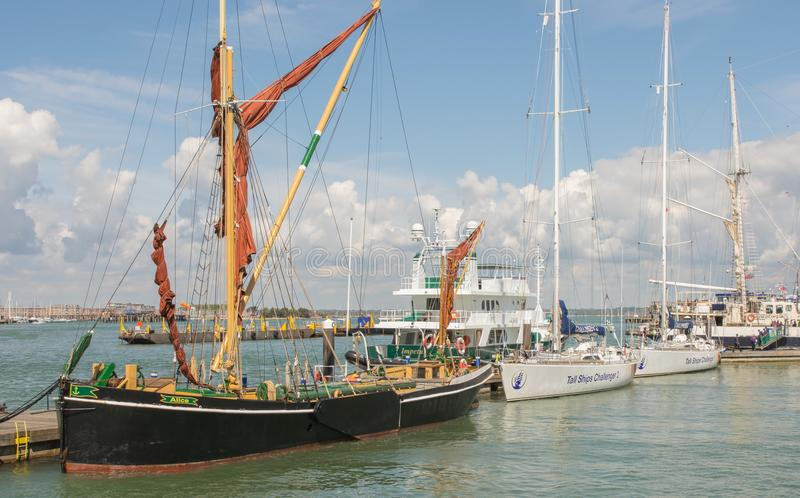 Tall ships at Portsmouth, Hampshire, England royalty free stock photos