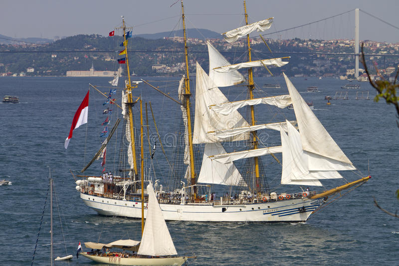 Tall Ships Regatta 2010 - Dewaruci royalty free stock photo