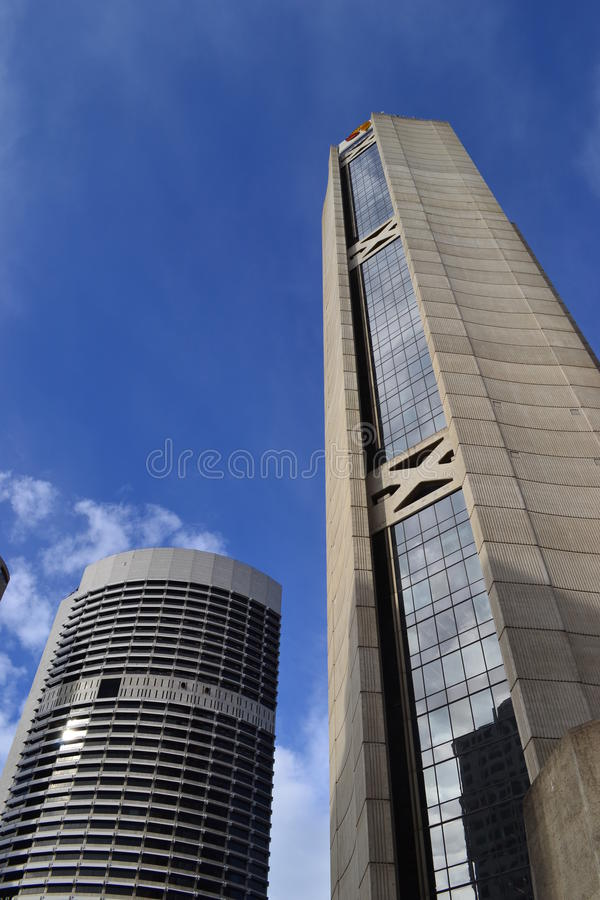 Tall and Short Buildings stock image