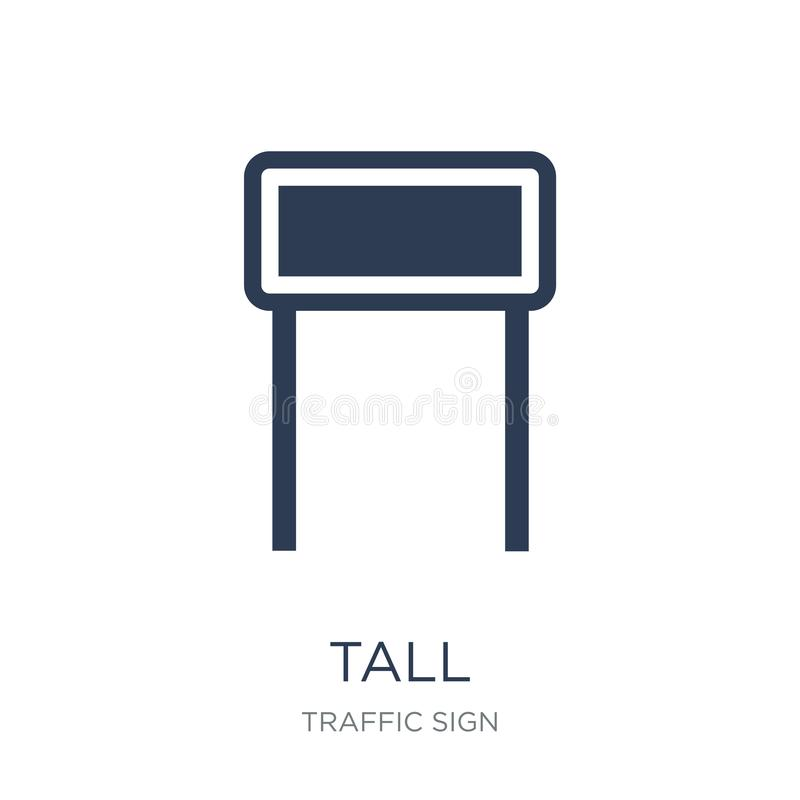 Tall sign icon. Trendy flat vector Tall sign icon on white background from traffic sign collection. Vector illustration can be use for web and mobile, eps10 vector illustration