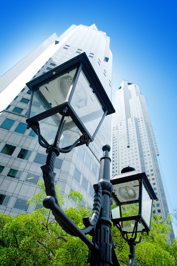 Download Tall Skyscrapers In The Business District Stock Image - Image: 7626127