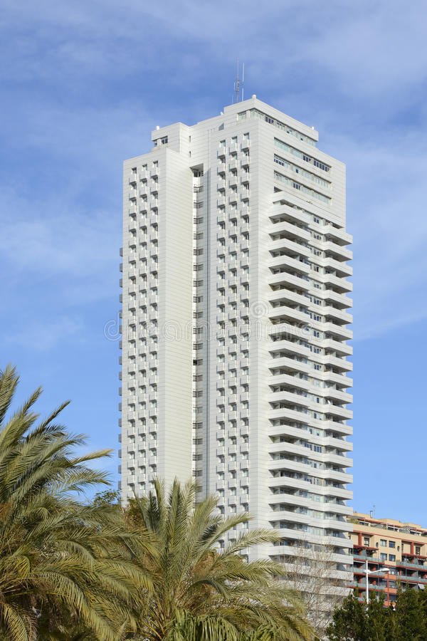 Free Tall Tower Block Of Apartments In Valencia, Spain Stock Images - 64153374