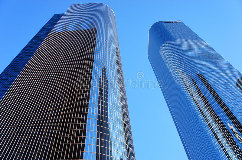 Download Tall Twin Glass Building editorial stock image. Image of upward - 41880844
