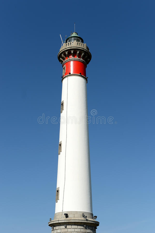 Tall white lighthouse royalty free stock images