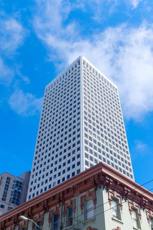 Modern skyscraper in downtown San Francisco royalty free stock photos