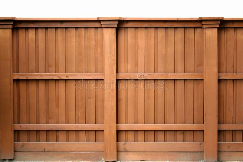 Tall wooden fence royalty free stock photo