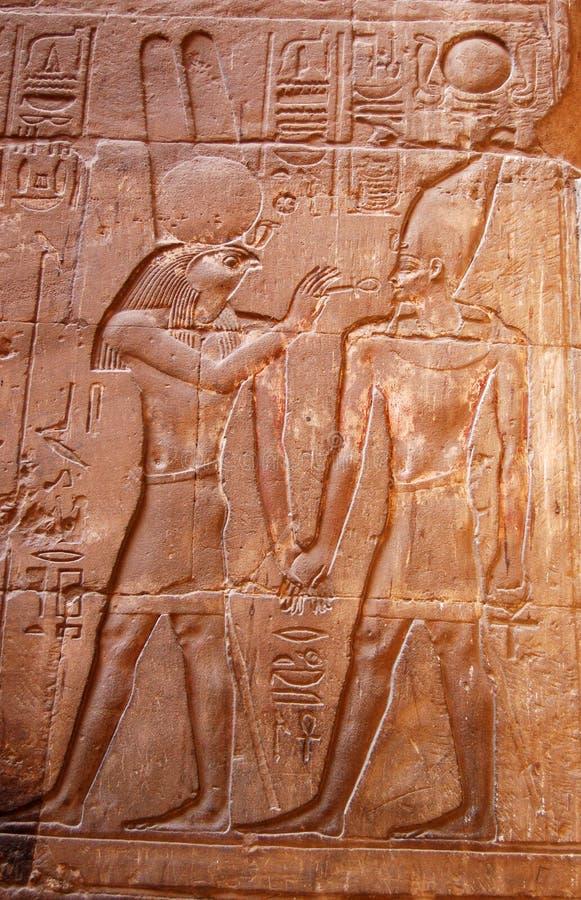 Talla de dios de Horus imagen de archivo