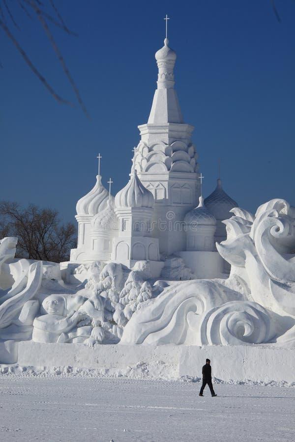 Talla de la nieve imagen de archivo libre de regalías