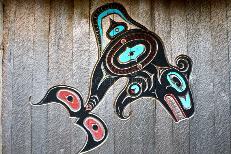 Talla de los naturales de Alaska fotografía de archivo libre de regalías