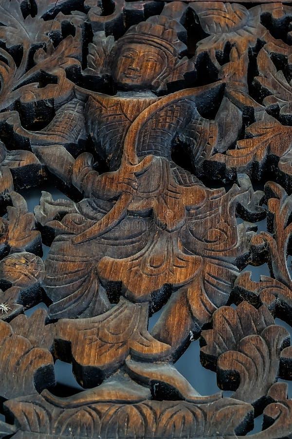Talla de madera de Tailandia imágenes de archivo libres de regalías
