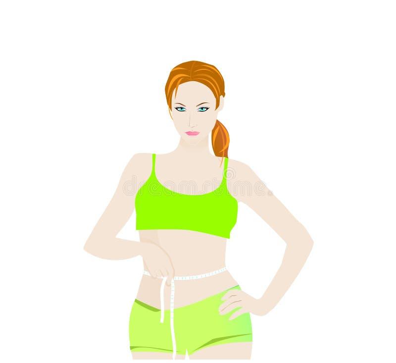 Talla de medición de la cintura de la mujer libre illustration