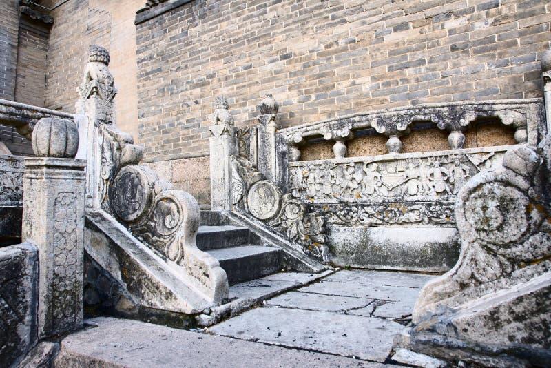 Talla de piedra de la escalera fotografía de archivo