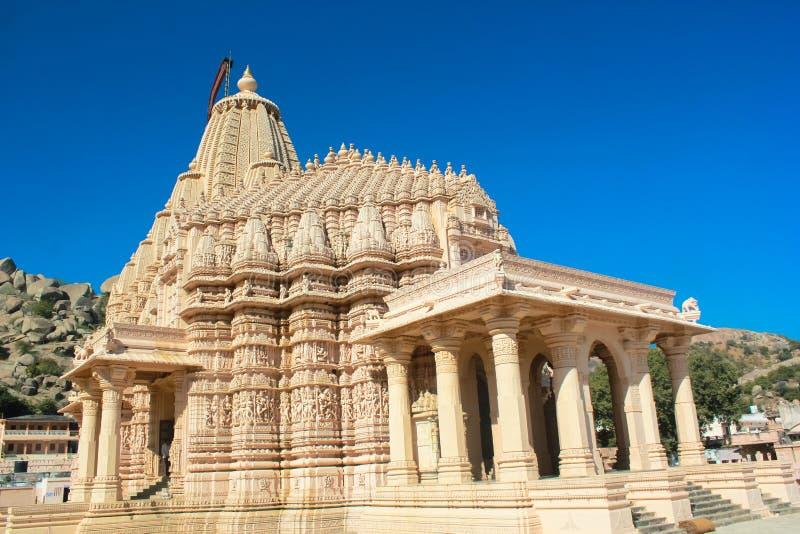 Talla de piedra del templo Jain de Taranga foto de archivo