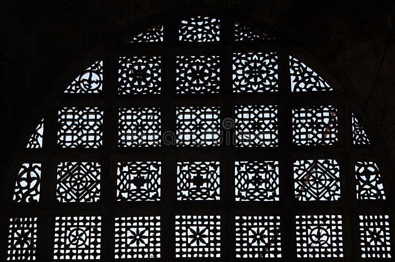 Talla de piedra en Sarkhej Roja, Ahmadabad, la India foto de archivo