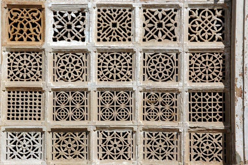 Talla de piedra en Sarkhej Roja, Ahmadabad, la India imagen de archivo