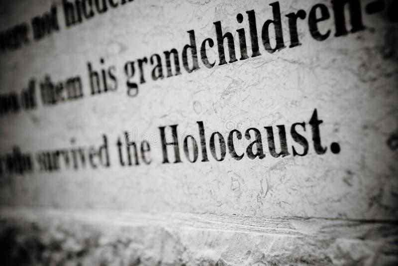 Talla del holocausto fotos de archivo libres de regalías