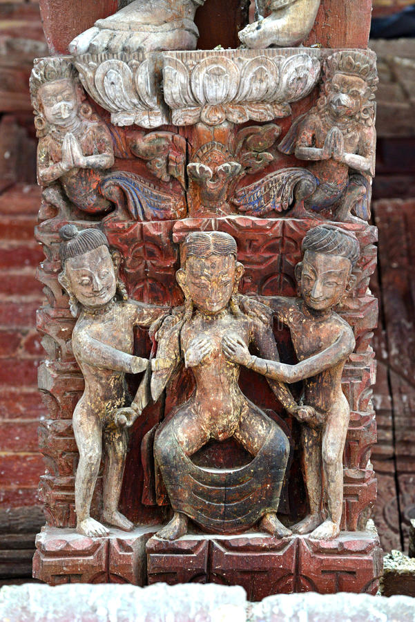 Talla Erótica, Posición De Kama Sutra Imagen de archivo