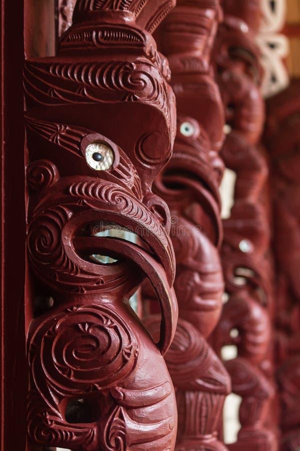 Talla maorí foto de archivo