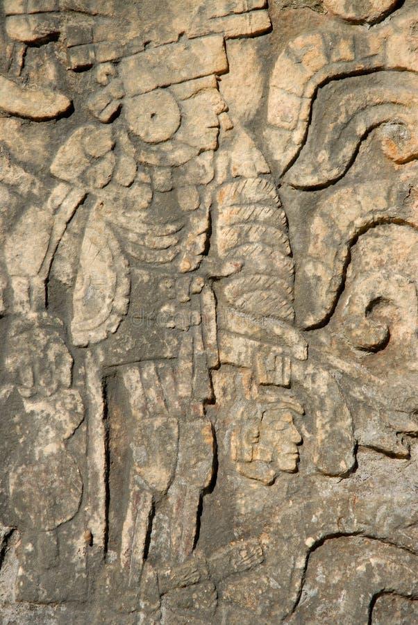 Talla maya imagen de archivo