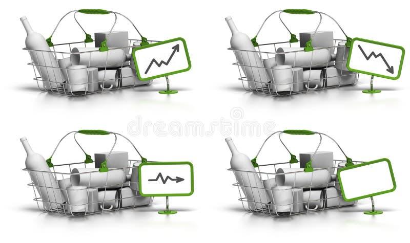 Talla o valor media de la cesta ilustración del vector