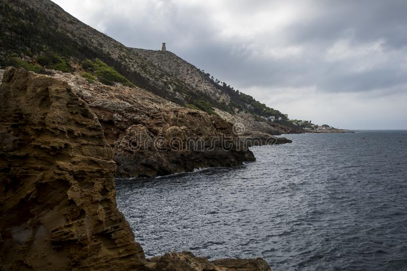 ` Tallada ` mediterraan hol royalty-vrije stock foto's
