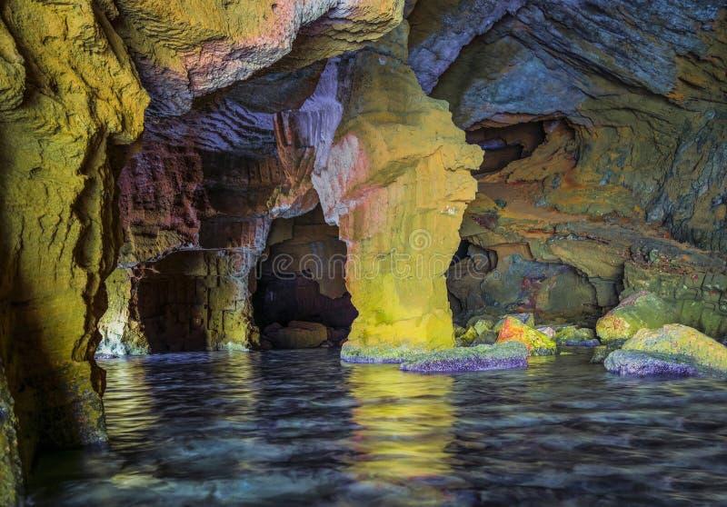 ` Tallada ` mediterraan hol royalty-vrije stock fotografie
