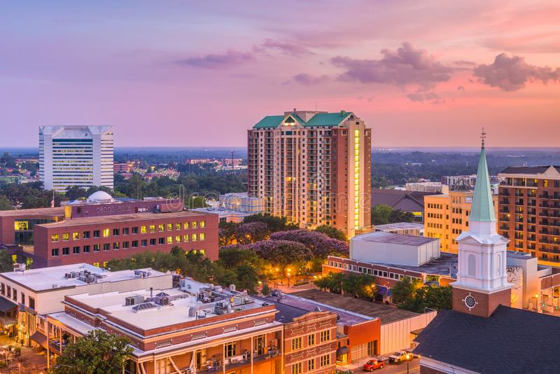 Tallahassee, Floryda, usa linia horyzontu fotografia stock