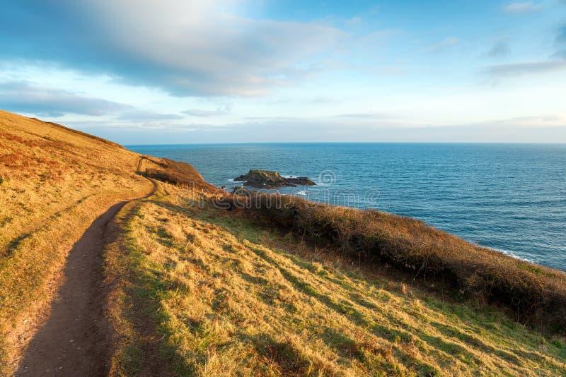 Talland zatoka w Cornwall zdjęcia stock