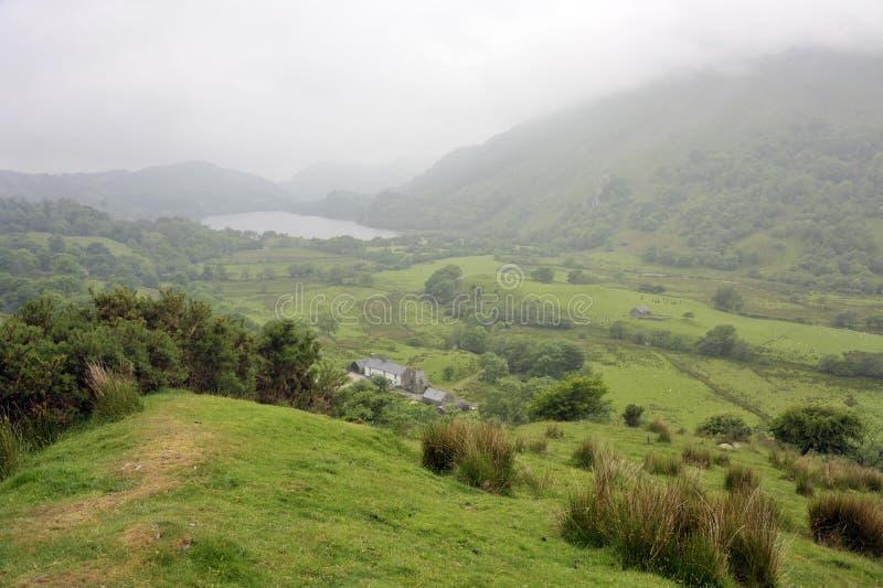 Tallandschaft Wales Nant Gwynant stockbild