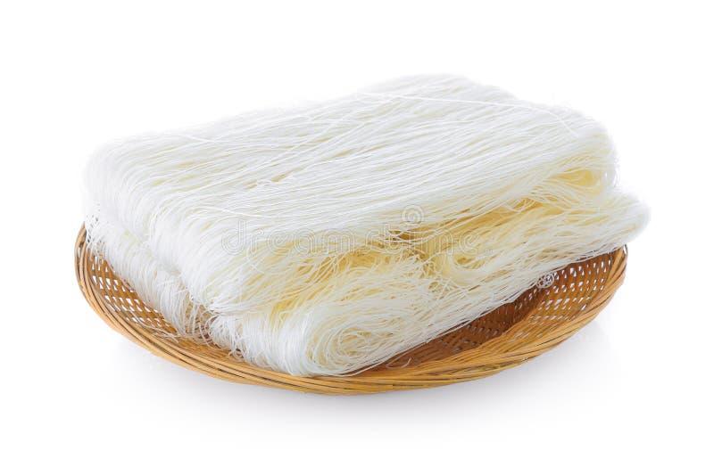 Tallarines de fideos o tallarines de arroz de cristal fotografía de archivo