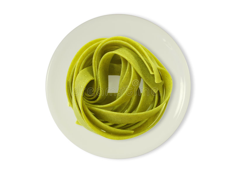 Download Tallarines Verdes En Una Placa Imagen de archivo - Imagen de cooking, delicioso: 1292803